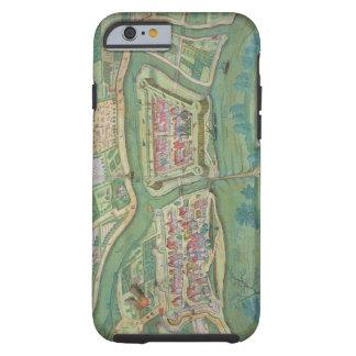 "Mapa de Szolnok, de ""Civitates Orbis Terrarum"" Funda Para iPhone 6 Tough"