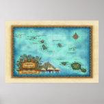 Mapa de Tahití Impresiones