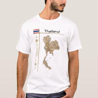 Mapa de Tailandia + Bandera + Camiseta del título
