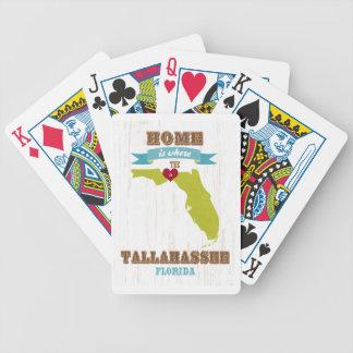 Mapa de Tallahassee, la Florida - casero está dond Baraja Cartas De Poker