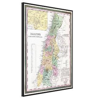 Mapa de Tanner de Palestina - circa 1836 Impresiones De Lienzo