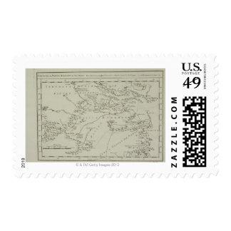 Mapa de Tartaria en China Timbre Postal