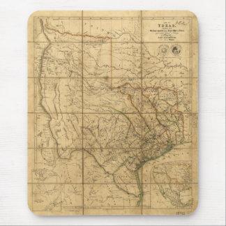 Mapa de Tejas de Juan Arrowsmith (1841) Tapete De Ratones