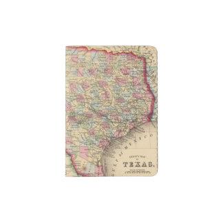 Mapa de Tejas de Mitchell Porta Pasaporte