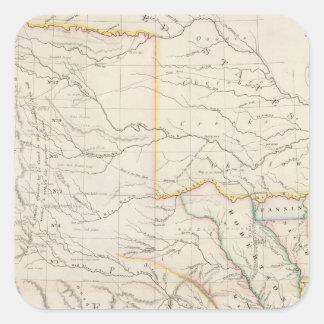 Mapa de Tejas Pegatina Cuadrada