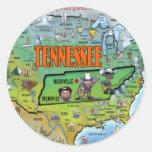 Mapa de Tennessee los E.E.U.U. Pegatinas Redondas