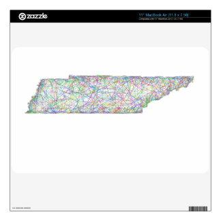 Mapa de Tennessee MacBook Air Calcomanía