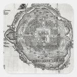 Mapa de Tenochtitlan Colcomania Cuadrada