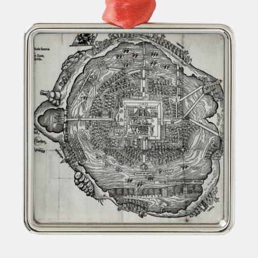 Mapa de Tenochtitlan Ornamentos De Reyes Magos