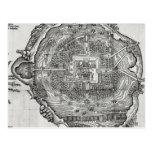 Mapa de Tenochtitlan Postales