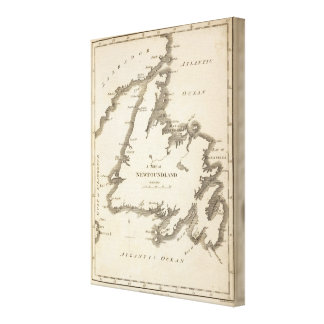 Mapa de Terranova Impresión En Tela
