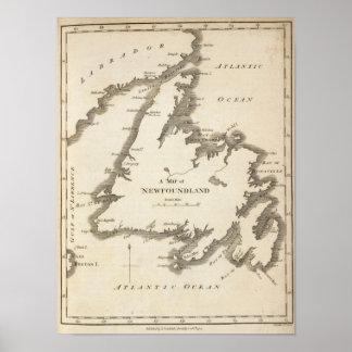 Mapa de Terranova Póster