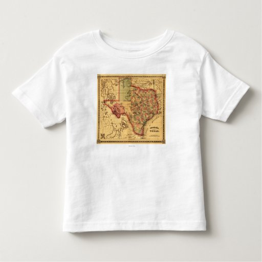 Mapa de TexasPanoramic Playeras