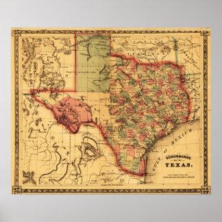Mapa de TexasPanoramic Posters