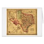 Mapa de TexasPanoramic Tarjeta De Felicitación