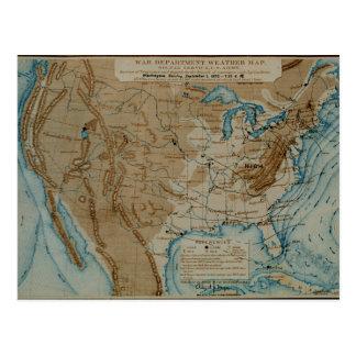 Mapa de tiempo de los E.E.U.U. Postales
