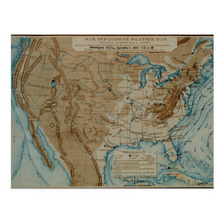 Mapa de tiempo de los E.E.U.U. Tarjetas Postales