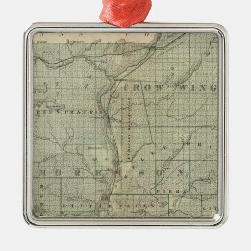 Mapa de Todd, Morrison, Minnesota Ornamento Para Arbol De Navidad