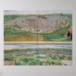 Mapa de Toledo y de Valladolid, de 'Civitates Orbi Póster