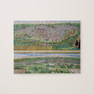 Mapa de Toledo y de Valladolid, de 'Civitates Orbi Puzzles Con Fotos