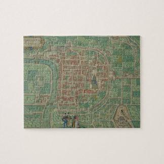 "Mapa de Trento, de ""Civitates Orbis Terrarum"" cerc Rompecabezas Con Fotos"