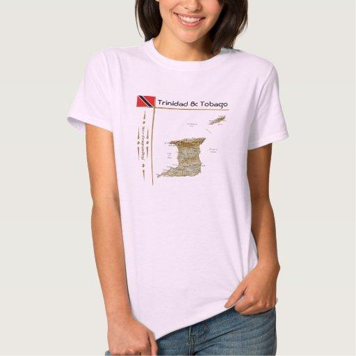 Mapa de Trinidad and Tobago + Bandera + Camiseta Camisas