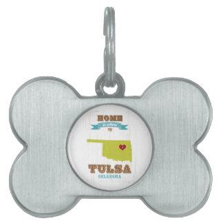 Mapa de Tulsa, Oklahoma - casero es donde está el  Placa De Mascota