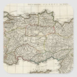 Mapa de Turquía Pegatina Cuadradas