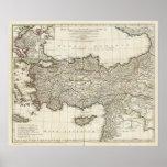 Mapa de Turquía Póster