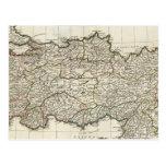 Mapa de Turquía Tarjetas Postales