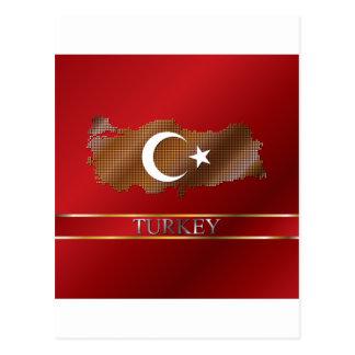 Mapa de Turquía y pixel turco del metal de la Postales