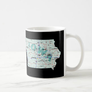 Mapa de un estado a otro de Iowa Taza Clásica