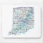 Mapa de un estado a otro Mousepad de Indiana Tapetes De Ratón