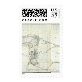 Mapa de un reconocimiento sello postal