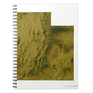 Mapa de Utah Cuaderno