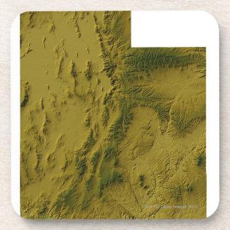 Mapa de Utah Posavasos