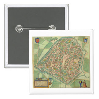 "Mapa de Valencia, de ""Civitates Orbis Terrarum"" b Pin Cuadrado"