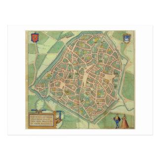 """Mapa de Valencia, de """"Civitates Orbis Terrarum"""" b Tarjetas Postales"""