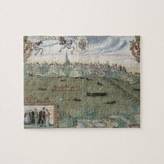 "Mapa de Varsovia, de ""Civitates Orbis Terrarum"" ce Puzzle Con Fotos"