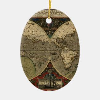 Mapa de Vera Totius Expeditionis Adorno Ovalado De Cerámica