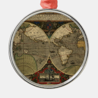 Mapa de Vera Totius Expeditionis Adorno Redondo Plateado