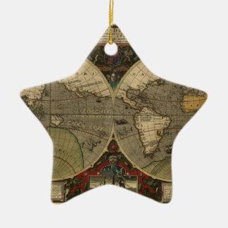 Mapa de Vera Totius Expeditionis Adorno De Cerámica En Forma De Estrella
