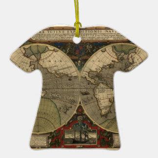 Mapa de Vera Totius Expeditionis Adorno De Cerámica En Forma De Camiseta