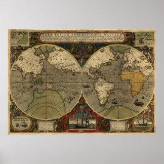 Mapa de Vera Totius Expeditionis Posters