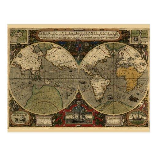 Mapa de Vera Totius Expeditionis Tarjeta Postal