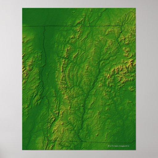 Mapa de Vermont 2 Impresiones