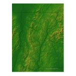 Mapa de Vermont 2 Tarjeta Postal