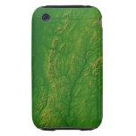 Mapa de Vermont 2 Tough iPhone 3 Carcasas