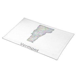 Mapa de Vermont Mantel Individual