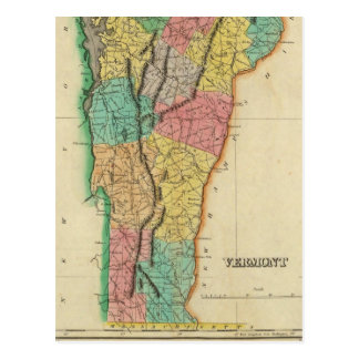 Mapa de Vermont Tarjetas Postales